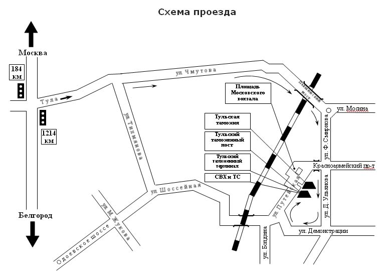 Московская областная таможня схема проезда